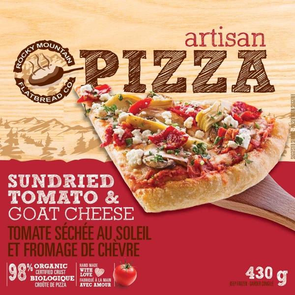 Take Home Frozen Sundried Tomato & Goat Cheese Pizza